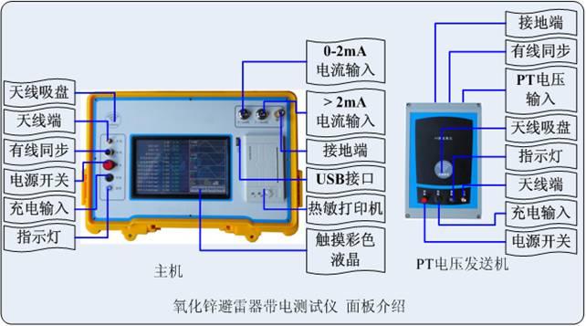 1、氧化锌避雷器测试仪采用了800×480彩色液晶触摸屏,高速热敏打印机;图文显示,界面直观,便于现场人员操作和使用。 2、无线传输PT信号超过400米,按需配置可达到2000米。 3、氧化锌避雷器测试仪适用于避雷器带电、停电或试验室等场所使用。 4、真正做到三相电流、三相电压同时测试,提高工作效率;仪器内部只带弱电,电压不超过12V;电流、电压传感器完全隔离,安全可靠。 5、氧化锌避雷器测试仪支持有线同步、无线同步两种电压基准信号取样方式;也支持无电压方式,通过软件计算找到电压基准。 6、氧